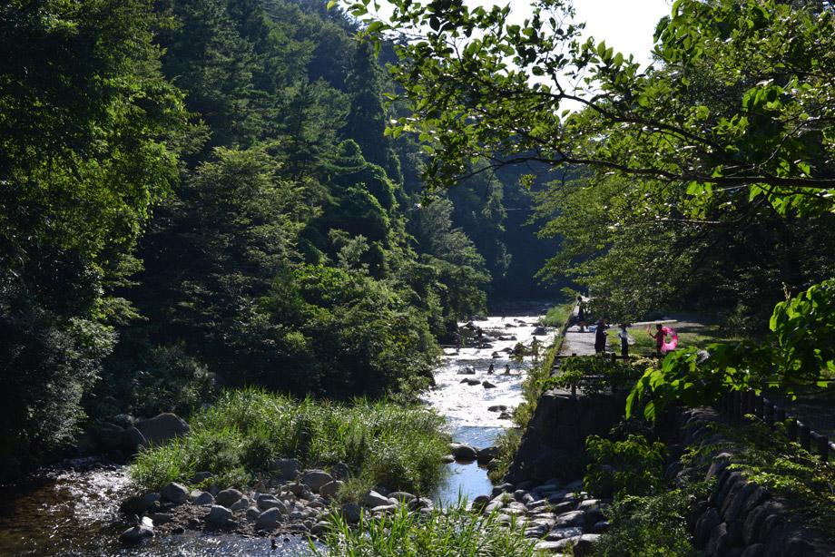 暑い日は川が一番