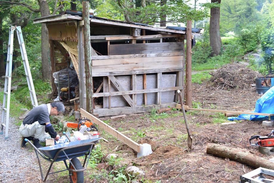 薪小屋の増設