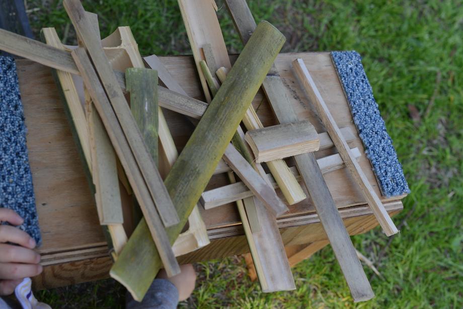 ikoi20170430-12 この竹細工の片隅に 五頭山麓いこいの森