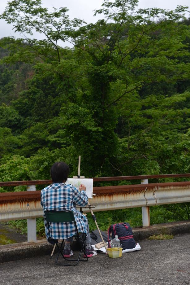 ikoi20170612-02 絵を描いてみよう 五頭山麓いこいの森