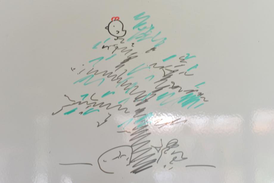 ikoi20170612-07 絵を描いてみよう 五頭山麓いこいの森