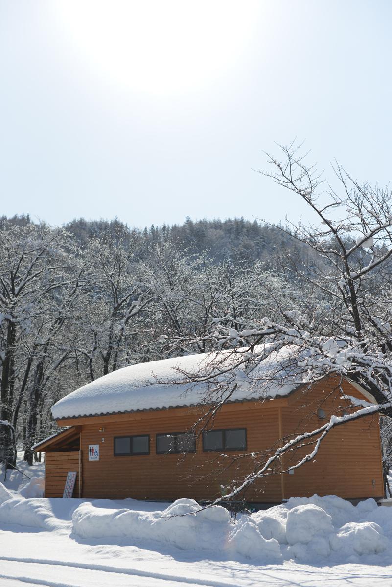 ikoi20180201-02 大雪とかまくらと雪だるまと 五頭山麓いこいの森