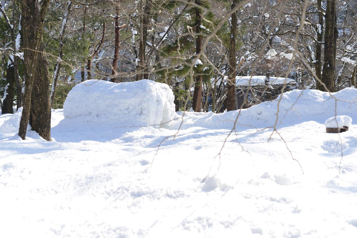 ikoi20180201-06 大雪とかまくらと雪だるまと 五頭山麓いこいの森