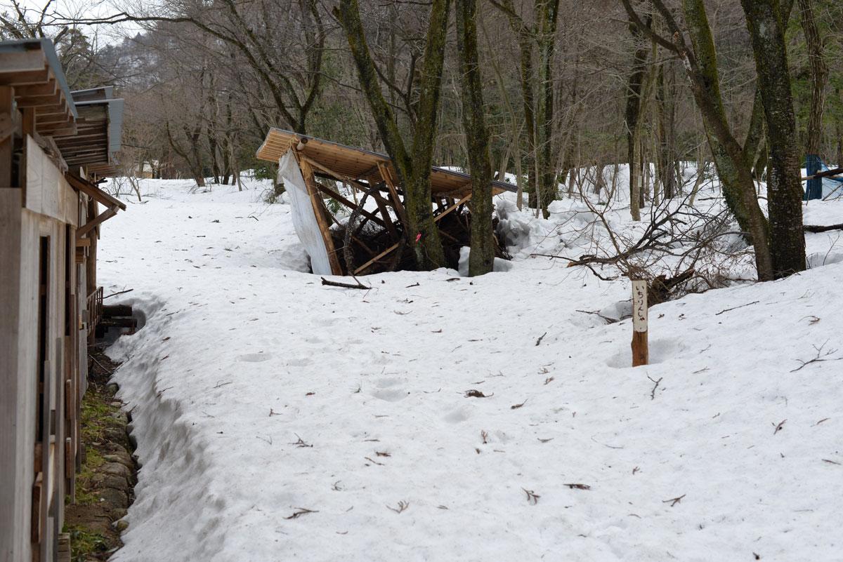 ikoi20180306-03 ここはまだ雪だらけ 五頭山麓いこいの森