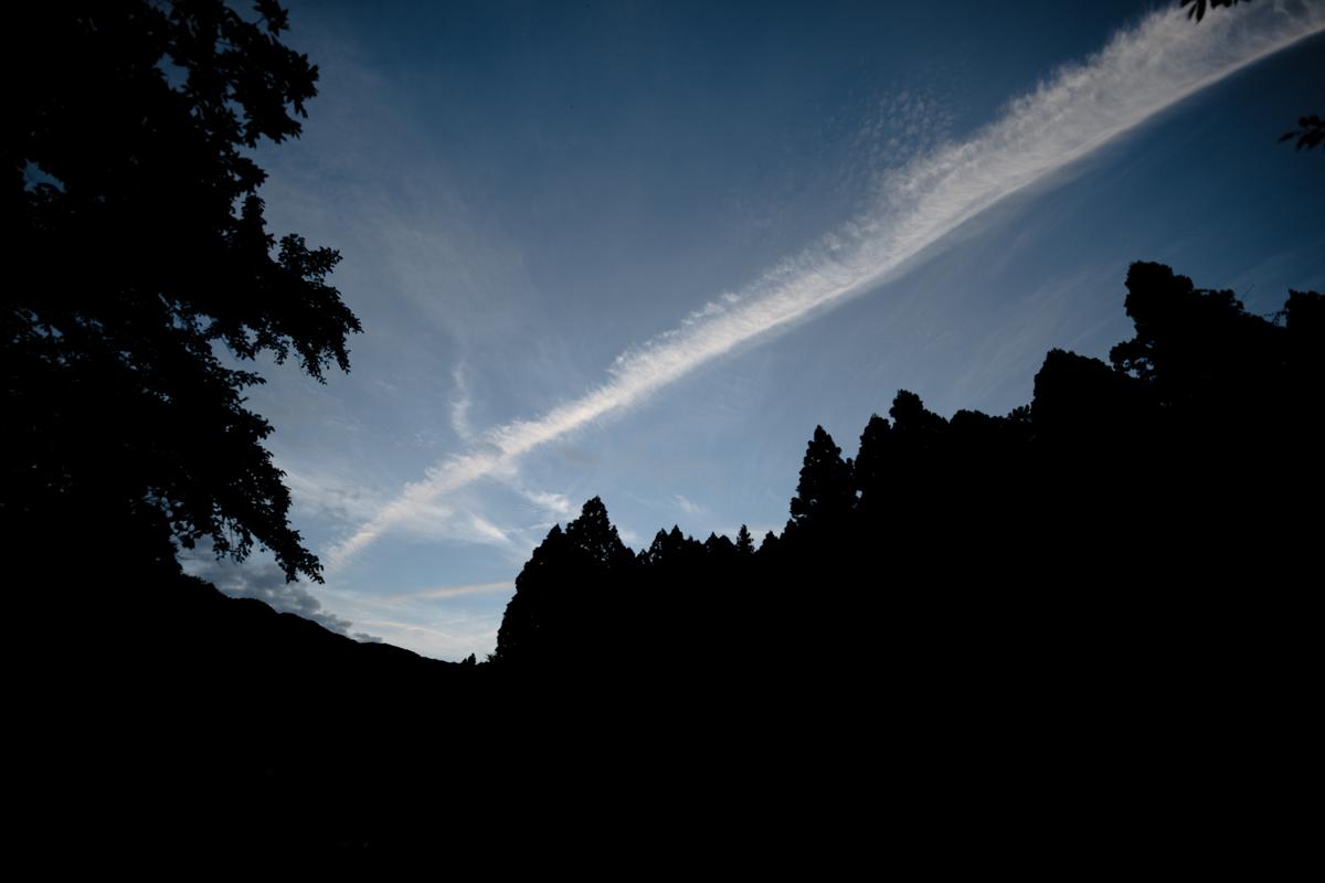 ikoi20180820-05 夕方の空がきれい 五頭山麓いこいの森