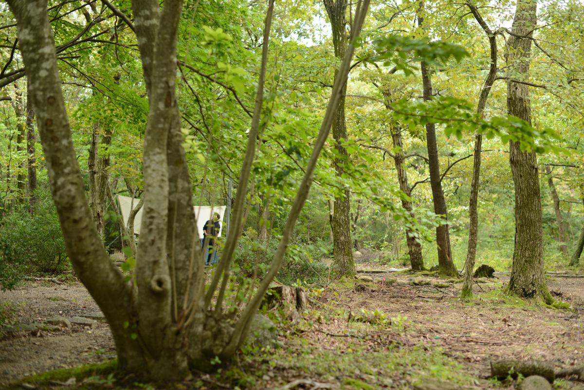 ikoi20180929-04 台風の前、雨の中 五頭山麓いこいの森
